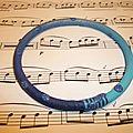 Bracelet jonc: dégradé de bleu