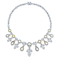 An elegant natural pearl and <b>diamond</b> <b>necklace</b>, by Moussaieff