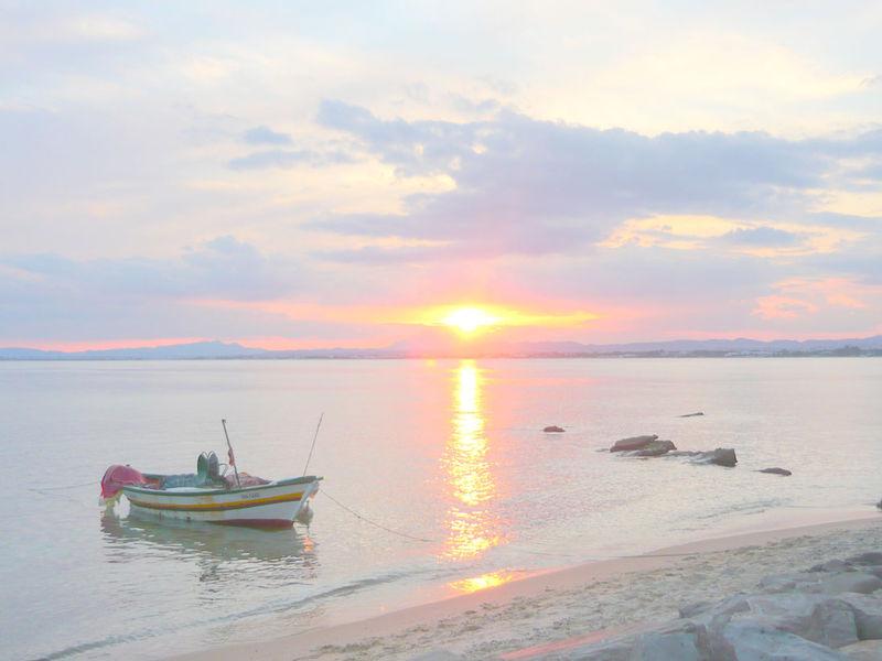 Le coucher de soleil du dimanche 28 septembre 2008.