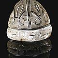 A fatimid rock crystal chess piece, egypt, 11th century