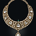 'The <b>Nizam</b> <b>of</b> <b>Hyderabad</b> necklace'. An antique diamond, emerald and enamel necklace