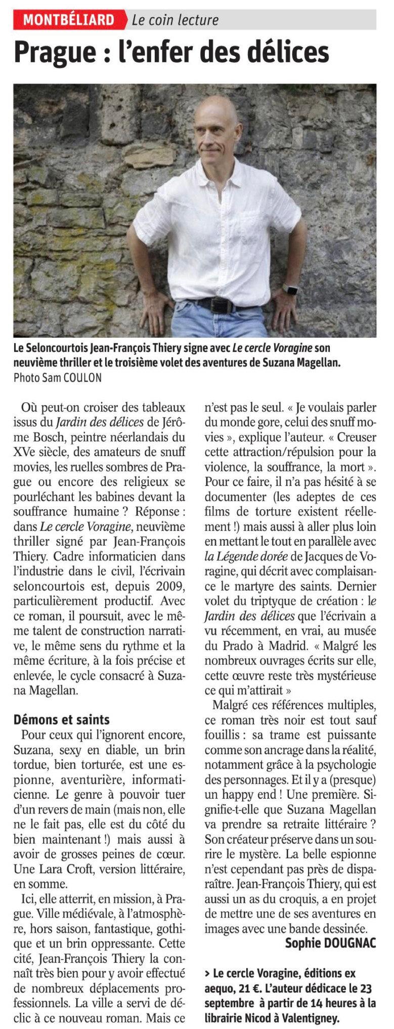 Est Républicain - Le cercle Voragine - 31-07-2017