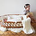 <b>Couverture</b> <b>crochet</b> bébé