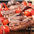 Brochettes de canard aux tomates cerises