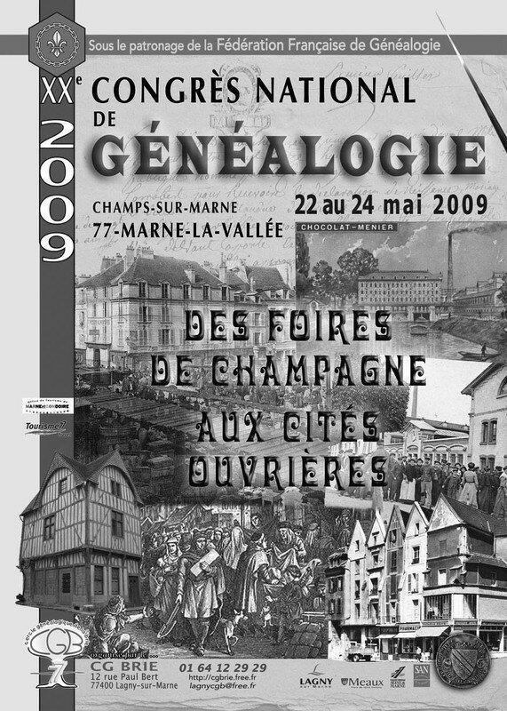 Congrès de généalogie Mai 2009 Marne la Vallée