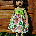 TUTO N° 85 - Après la rose et la rouge, voilà la petite robe verte...