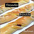 Brioches torsadées à la crème patissière et chocolat