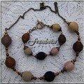 Avec des boules bois 16 mm (collier) et 12 mm (bracelet)