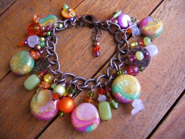 Bracelet breloques, collection Tutti Frutti