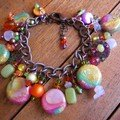 Bracelet breloques, collection Tutti Frutti