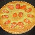 Tarte aux abricots et à la crème d'amande pistache
