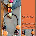 Bracelet&Rasdu cou multicolores