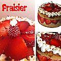 Un fraisier gourmand et ses verrines