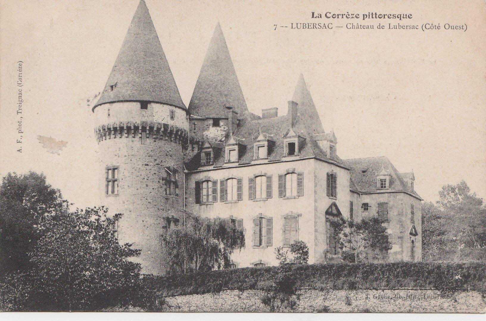 La Corrèze pittoresque - 7 Lubersac - Château de Lubersac (Côté Ouest)