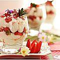 Verrines de fraises comme une pavlova!