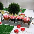 boule d'herbe - set de table gazon - petits pots de confiture - www.coeurdartichaut.com