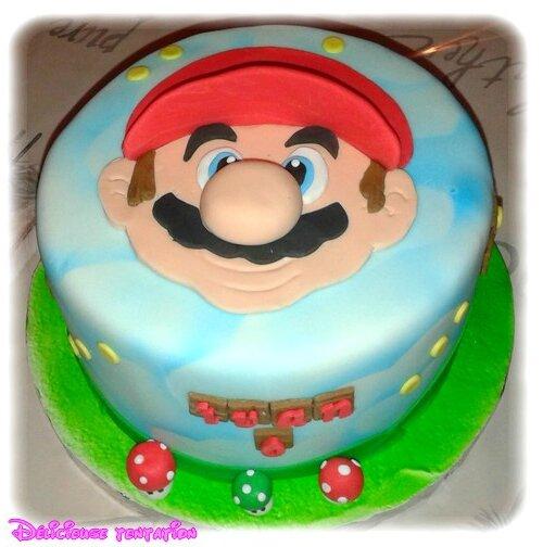 Gâteau Mario et ses sucettes étoiles