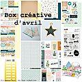 La box créative d'avril
