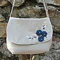 Sac cousu et brodé, sewn and embroidered bag