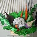 Des légumes en papier