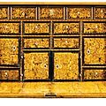 A South German amaranth, ash, yew, <b>elmwood</b>, walnut, stained fruitwood, marquetry and parquetry cabinet, Augsburg, third quarter