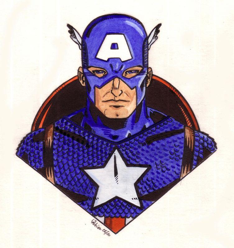 Avengers captain america les dessins de gadrien - Dessin de avengers ...