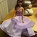 Robe de bal mauve barbie