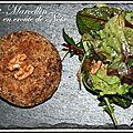 Saint marcellin en croûte de noix