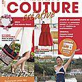 Ce mois-ci dans le magazine passion couture créative