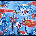 'take time to smell the flowers'... darcy's month 6 journal page challenge / challenge art journal darcy wilkinson