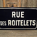 Ancienne <b>Plaque</b> de <b>Rue</b> Émaillée