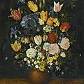 <b>Jan</b> <b>Brueghel</b> <b>the</b> <b>Elder</b> (Brussel 1568 - 1625 Antwerp), Still life of flowers in a stoneware vase