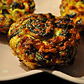 Mini Muffins Jambon <b>Epinards</b> Comté