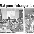 La revue de presse : dictée ela, chantier de l'école, halloween mais aussi le collège et l'éducation nationale