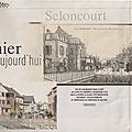 Rubrique ''D'hier à aujourd'hui'' dans Le Mag ER : Seloncourt (25)
