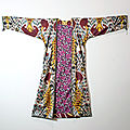 Silk Woven Ikat Kaftan Robe, Central Asia, <b>Uzbekistan</b>, late 19th C to early 20th C