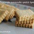 Biscuits amande-petit épeautre