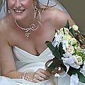 Collier mariage marron- bracelet mariage marron chocolat
