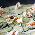 Curry rapide de courgettes et <b>crevettes</b>