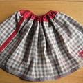 madras gris rouge réversible (épuisé)