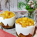 <b>verrines</b> de yaourt grec avec ananas deux textures