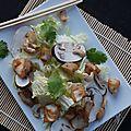 Salade asiatique au poisson