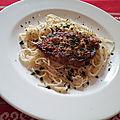 Côtes de porc au chorizo et au grana padano