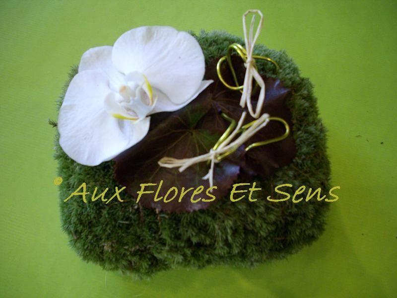 Coussin pour alliances phalaenopsis