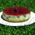 Cheesecake framboises / matcha