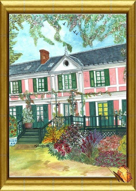 Giverny maison Claude Monet. Eure