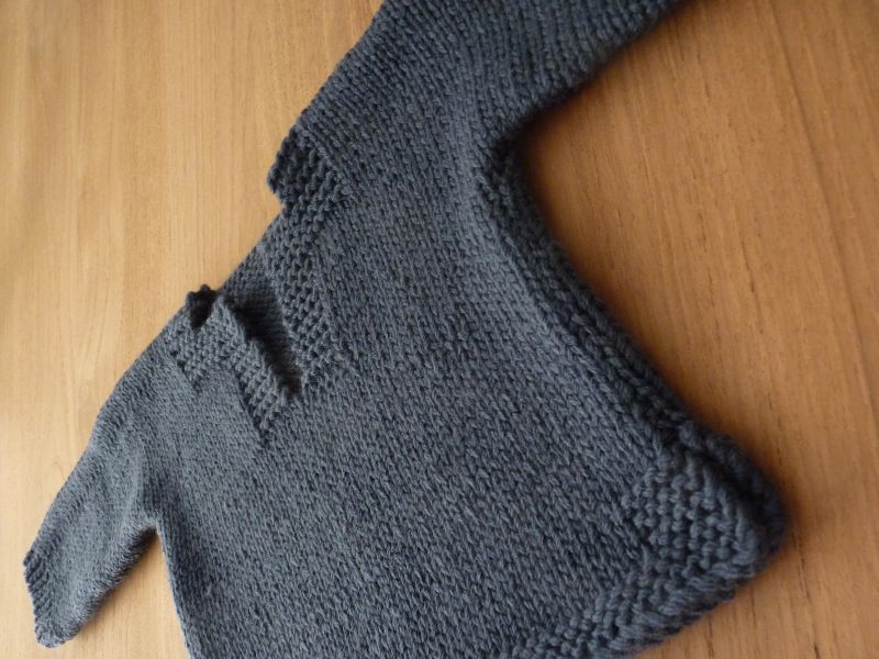 tricoter un pull pour bebe 6 mois
