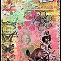 Art journal mixed média