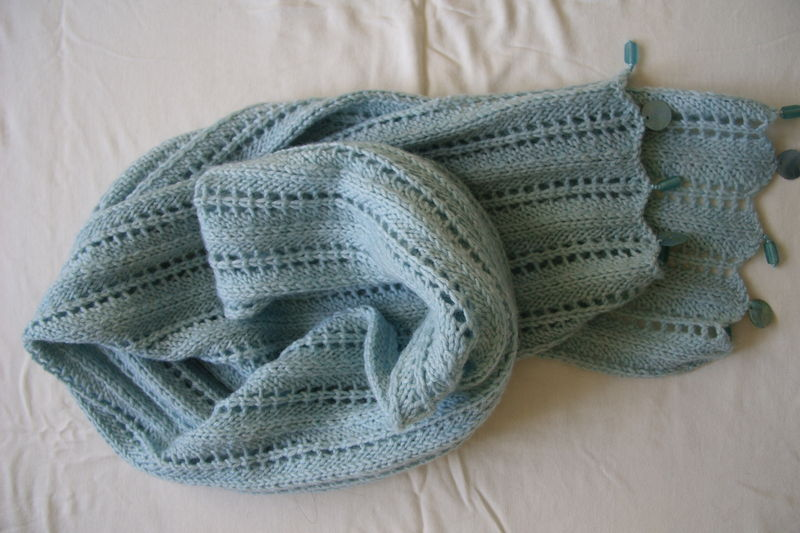 tricoter une echarpe dentelle