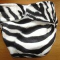 PUL recouvert d'un tissu imitation zèbre